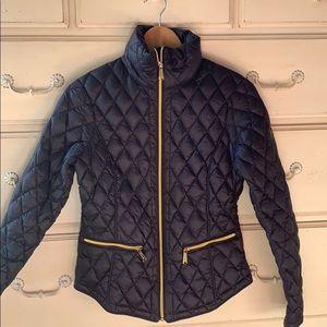 Michael Kors Navy Puffer Coat